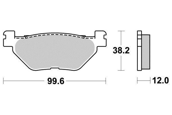 ferodo plaquette de frein m tal fritt sinter grip maxi scooter fdb2126sm sifam. Black Bedroom Furniture Sets. Home Design Ideas