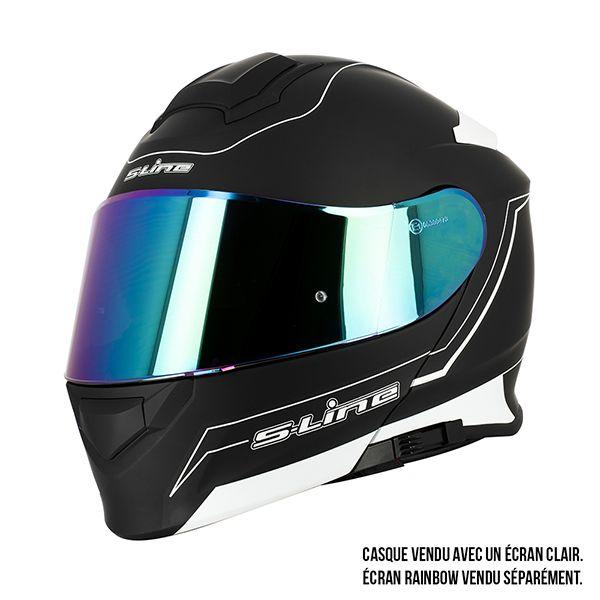 Pinlock Casque Moto//scooter Modulable Sifam S550 Noir MAT Double visière