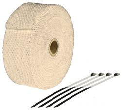 Bande Thermique échappement 10M Couleur Cuivre + 4 Fixations Largeur: 50mm - Ep: 1,5mm