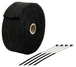 Bande Thermique échappement 10M Noire + 4 Fixations Largeur: 50mm - Ep: 1,5mm