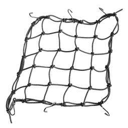 Filet Araignée Pour Casque ou Bagage - 40*40cm - 6 crochets - Noir