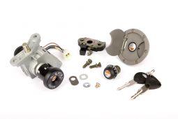Contacteur à clef MBK-Yamaha 4 Pièces Complet Nitro / Aerox 1997-2002 Neiman+Selle+ Essence+Centrale