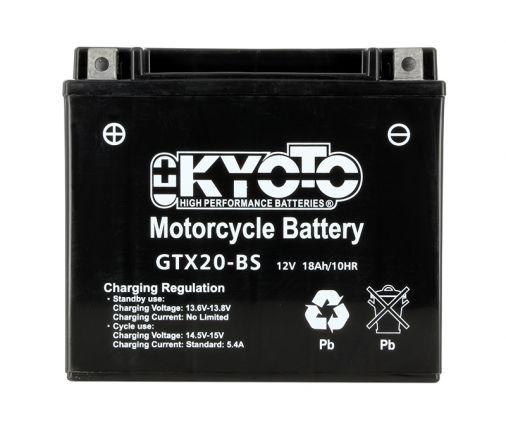 kyoto batterie ytx20 bs agm sans entretien livr e. Black Bedroom Furniture Sets. Home Design Ideas