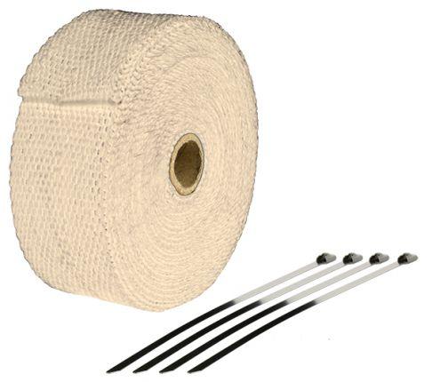 Bande Thermique échappement 10M Couleur Cuivre + 4 Fixations Largeur: 50mm - Ep: 1,5mm - BTE100C