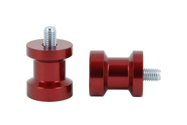 Diabolo Alu Rouge Pas Ø6mm x1.25 Anodisés Rouge Ø27mm Longueur 31mm - DIAB005