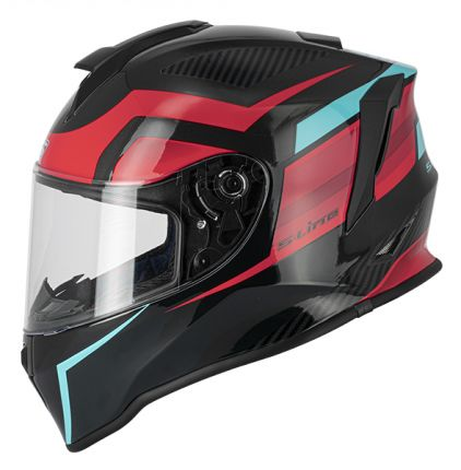 S445 Full Face Kld Helmet - Black / Red / Blue - L - IJE1G1003