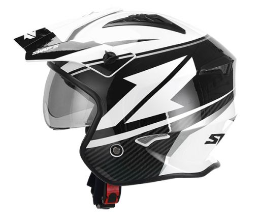 S769 Jet helmet - White Black - Size L - JTR2G1104