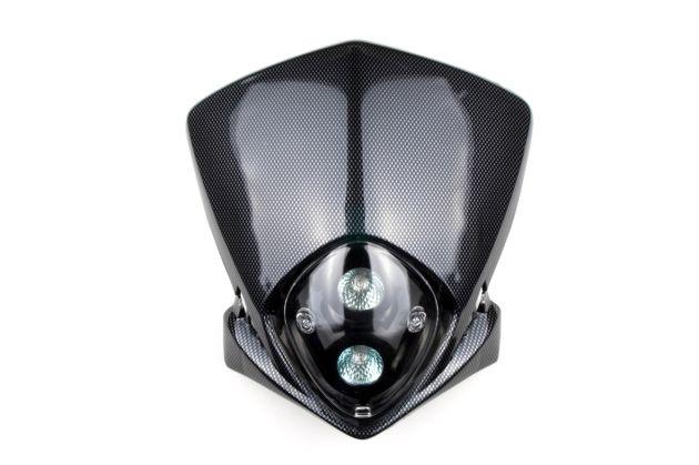 Mica de farol Carbono 12V 20W - PLA2001