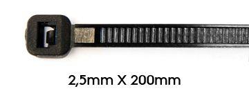 Cadena de sujeción 2,5 x 200 mm Bolsa de 100 - RIZLAN25200