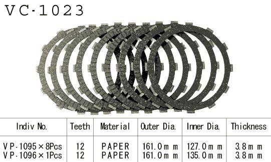 Dischi Guarniti Frizione Cbr1100 Xx 97-98