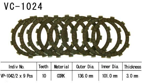 Dischi Guarniti Frizione Cbr900 Rr 00-01 Gsx-R600 97-02