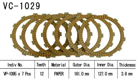 Dischi Guarniti Frizione Cbr1100 Xx 99-02