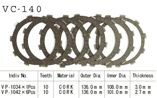 Dischi Guarniti Frizione Cb250/350/450 80-86