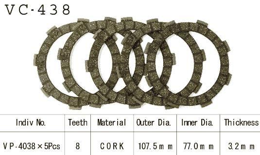 Dischi Guarniti Frizione Cross Kx80 C/E 81-84
