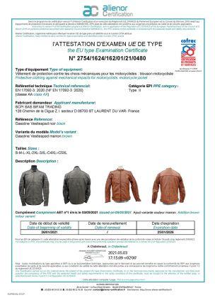 Blouson Cuir Homme GT TROPHY - Taille S - Marron - VESTLEAPAD22