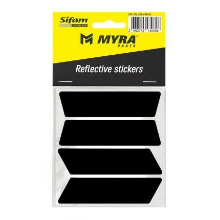 Stickers noirs réfléchissants pour casques - STICKER-REFL02